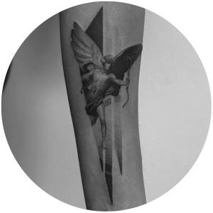 Engel Ad Infinitum Tattoo aus Bochum Ehrenfeld